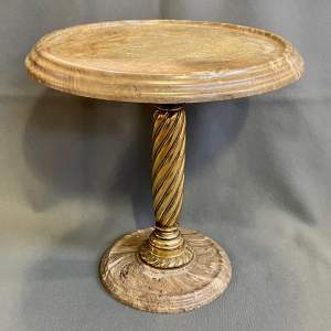 Decorative Marble and Brass Wine Table