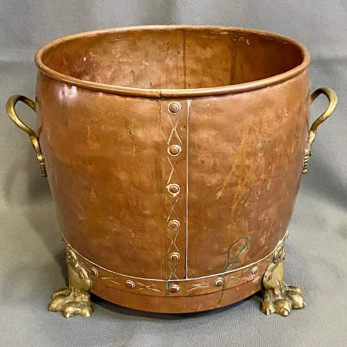 Victorian Copper and Brass Planter image-1