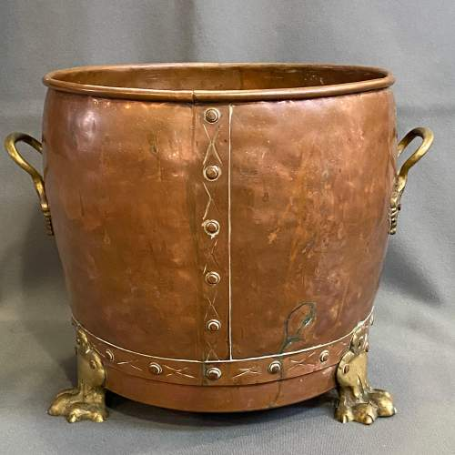 Victorian Copper and Brass Planter image-4