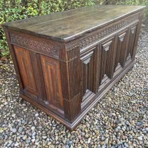 18th Century Carved Oak Coffer