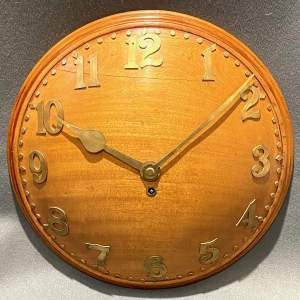 Art Deco Mahogany Wall Clock retailed by Liberty and Co
