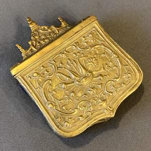 Early 19th Century Ottoman Balkan Brass Cartridge Case