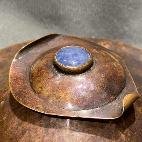Arts and Crafts Copper and Ruskin Inkwell image-2