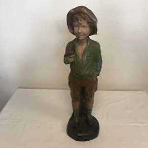 Plaster Painted 1930s Figure of Boy