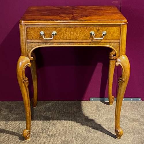 Edwardian Burr Walnut Side Table image-1