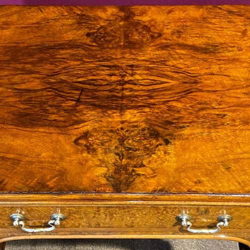 Edwardian Burr Walnut Side Table image-2