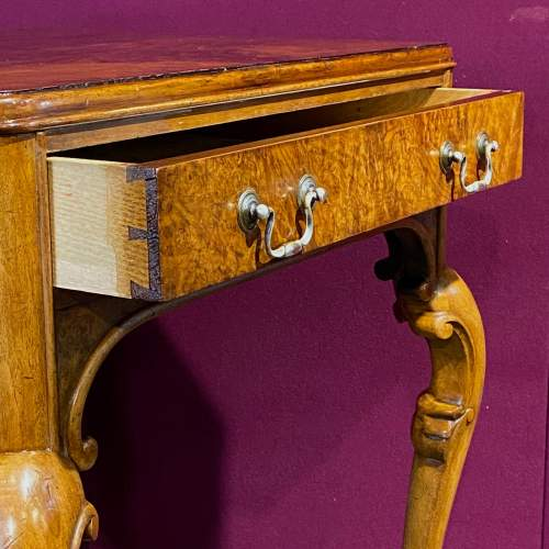 Edwardian Burr Walnut Side Table image-4
