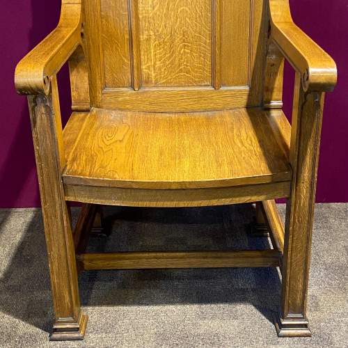 Large Ecclesiastical Oak Alter Chair image-3