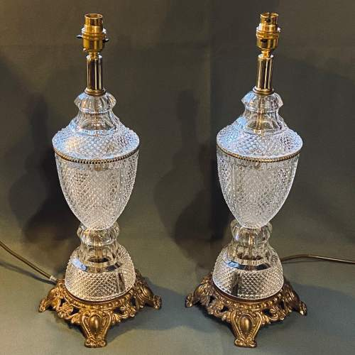 Impressive Pair of American Crystal Table Lamps image-4
