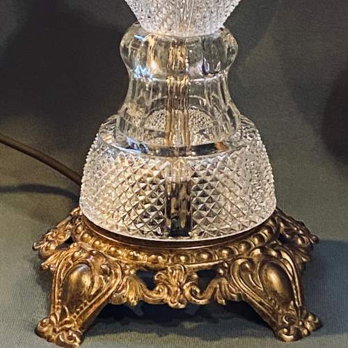 Impressive Pair of American Crystal Table Lamps image-5