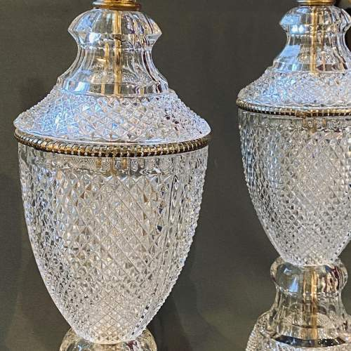 Impressive Pair of American Crystal Table Lamps image-2