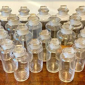 Set of 23 Glass Apothecary Bottles