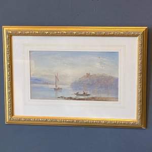 19th Century E Tucker Watercolour of a Lake Scene