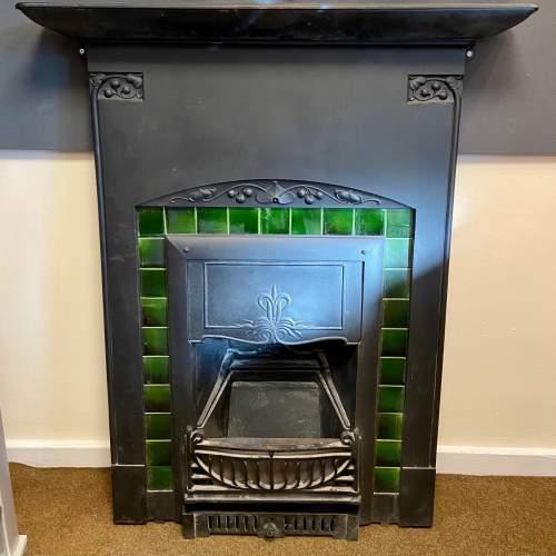 Original Arts and Crafts Cast Iron Fireplace image-1