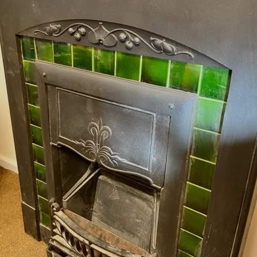 Original Arts and Crafts Cast Iron Fireplace image-2