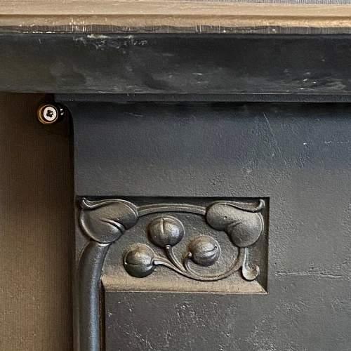 Original Arts and Crafts Cast Iron Fireplace image-3