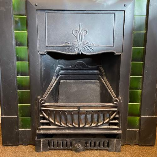 Original Arts and Crafts Cast Iron Fireplace image-4