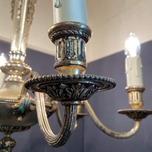 Early 20th Century Die Cast Six Arm Chandelier image-4