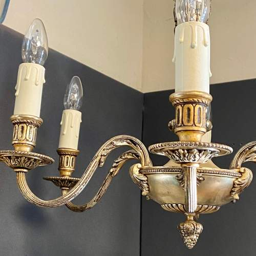 Early 20th Century Die Cast Six Arm Chandelier image-3