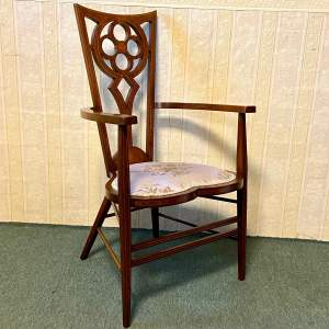 Art Nouveau Mahogany Inlaid Chair