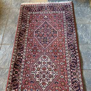 Superb Old Hand Knotted Persian Rug Bidjar Excellent Quality Piece