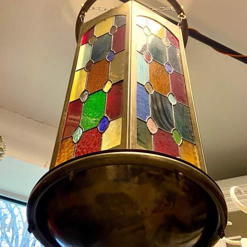 Arts and Crafts Leaded Glass Shade image-1
