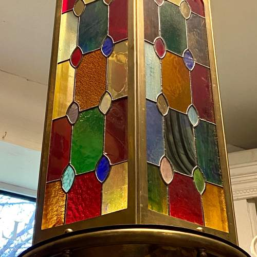 Arts and Crafts Leaded Glass Shade image-2