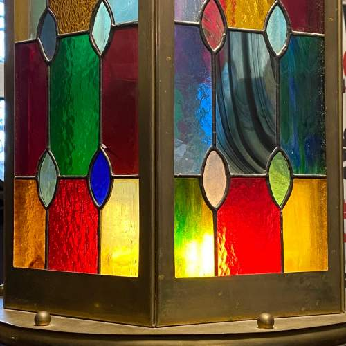 Arts and Crafts Leaded Glass Shade image-3