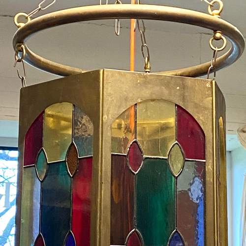 Arts and Crafts Leaded Glass Shade image-4