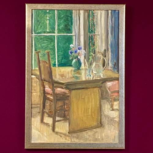 A Quiet Afternoon by Peter Macnamara Oil on Paper Painting image-1