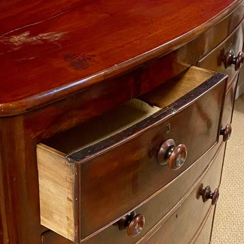 19th Century Bow Front Chest of Drawers image-4