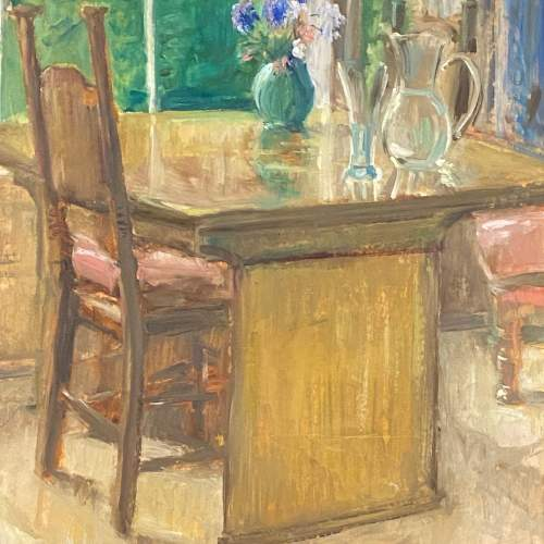 A Quiet Afternoon by Peter Macnamara Oil on Paper Painting image-2