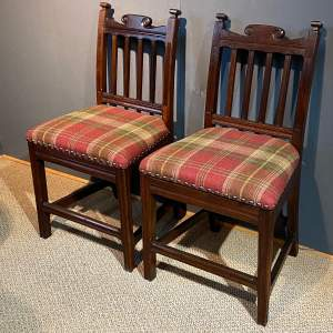 Pair of Oak Chairs in the 17th Century Style