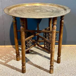Vintage Mid 20th Century Brass Folding Table