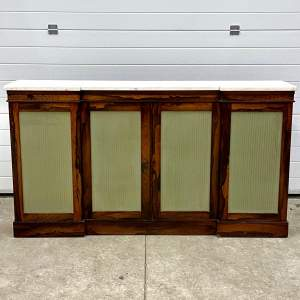 Regency Rosewood Marble Topped Side Cabinet