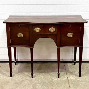 19th Century Mahogany Serpentine Fronted Small Sideboard
