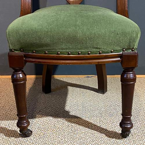 Pair of Heavy 19th Century Upholstered Mahogany Dining Chairs image-4