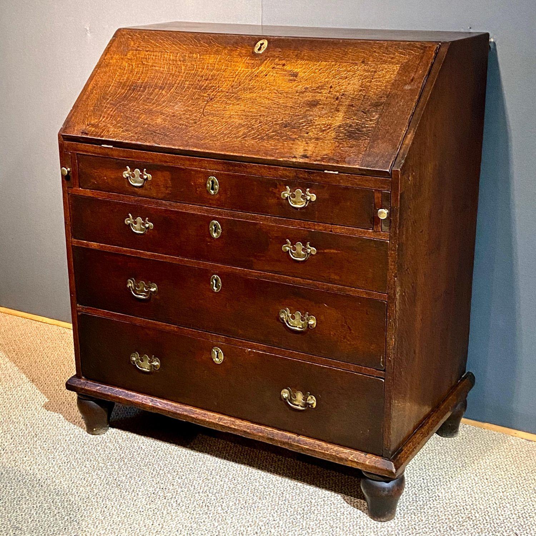 Georgian Oak Bureau Antique Desks
