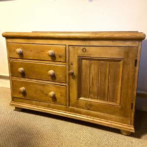 Victorian Single Pine Dresser Base