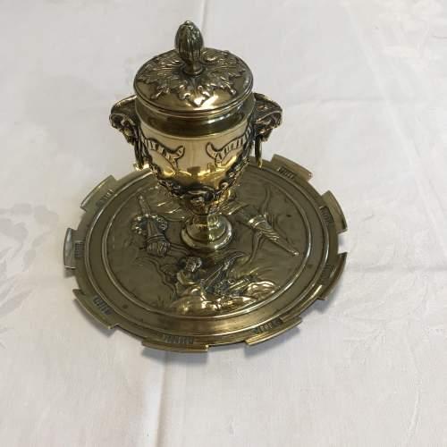 Decorative French Brass Inkstand image-1