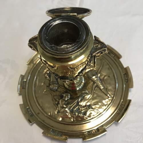 Decorative French Brass Inkstand image-2