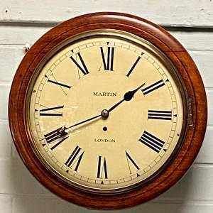Martin of London Mahogany Cased Fusee Wall Clock