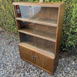Minty of Oxford 1960s Oak Sectional Bookcase
