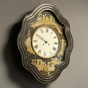 French Chinoiserie Wall Clock