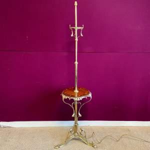 Art Nouveau Brass Electric Standard Lamp