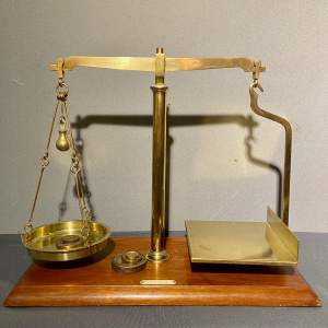 Early 20th Century Brass Scales and Weights