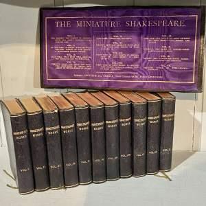 19th Century set of 11 Miniature Shakespeare Books