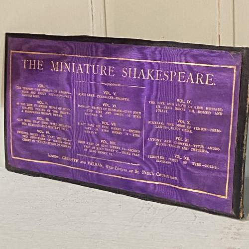 19th Century set of 11 Miniature Shakespeare Books image-4