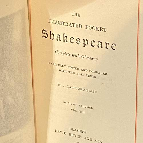 Complete Set of Shakespeare in 8 Volumes image-4