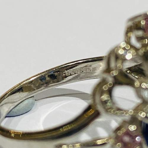 Vintage 9ct Gold Diamond and Sapphire Ring image-4
